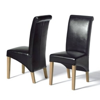 Rollback Black Leather Chair