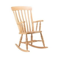 High Back Slat Rocking Chair