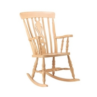 High Back Fiddle Rocking Chair