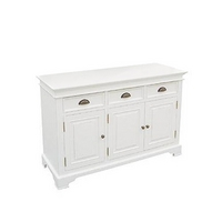 Kristina White Triple Door Dresser Base