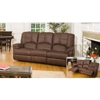 Albacete 2 seat reclining sofa brown