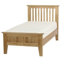 Bevel Solid Oak Single Bed