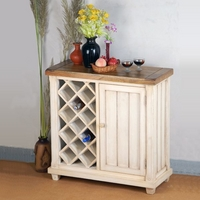 Shabby Chic Solid Mango Wine Cabinet