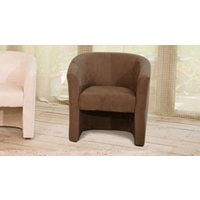 Chester tub chair dark brown