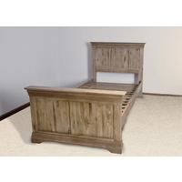 French Farmhouse Solid Oak Single Bed