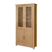 Oakleigh Glazed Cupboard Bookcase