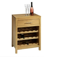 Contemporary Oak Wine Rack