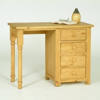 Oxbury Pine Single Pedestal Desk