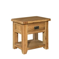 Reclaimed Oak Bedside Cabinet with 1 Drawer
