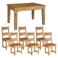 Reclaimed Oak Small Dining Set + Wooden Chairs