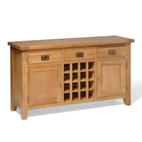 Vancouver Oak Wine Console Table