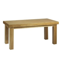 Contemporary Oak Dining Table Thick Top