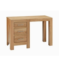Contemporary Oak Single Pedestal Desk