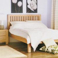 Contemporary Oak 4ft 6 Double Bed