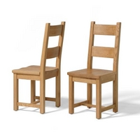 Vancouver Oak Wooden Seat Dining Chair