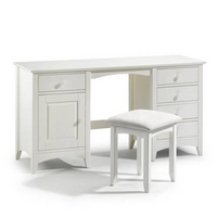 Cameo Painted Double Pedestal Dressing Table