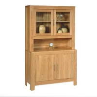 Contemporary Oak Sideboard with Glass Top