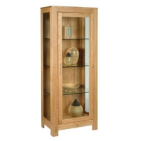 Contemporary Oak Glass Display Cabinet