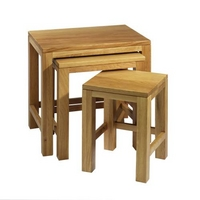 Contemporary Oak Nest of Tables