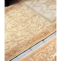 Victoriana Traditional Gold Cotton  Wool Rug