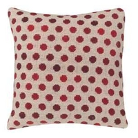 Lemington Red Polka Dot Cotton Cushion