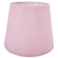Pink Gingham Ceiling Shade