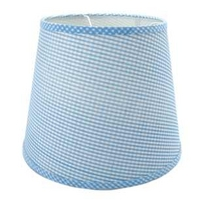 Blue Gingham Ceiling Shade