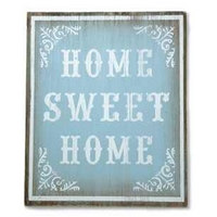 Blue Vintage Wooden Home Sweet Home Sign