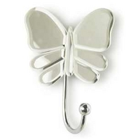 Hayley Butterfly Pair Of Mirrored Wall Hooks