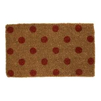 Lemington Red Polka Dot Coir Door Mat