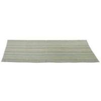 Hemington Green Stripe Cotton Rug