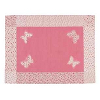 Bella Butterfly Pink Cotton Rug