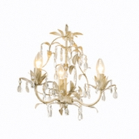 Lavenham Cream  Clear Glass 5 Light Chandelier