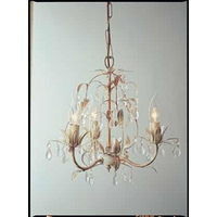 Lavenham Cream  Clear Glass 3 Light Chandelier