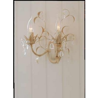 Lavenham Cream  Clear Wall Light