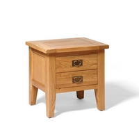 Vancouver Oak 1 Drawer Lamp Table