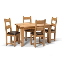 Vancouver Oak Small Dining Set
