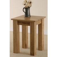Solid Oak Minimalist Lamp Table