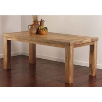 "Mantis Light Solid Mango 5ft x 2ft 8"" Dining Table"